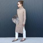 冬の服装♡白に合う色×ベージュコーデ|ニット・スカート・コートなど