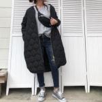 冬の服装♡黒に合う色×グレーコーデ|コート・カーディガン・パンツなど