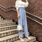気温33度の服装♡初夏のお仕事コーデ・シフォンブラウス・スカートなど
