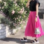 気温28度の服装♡ビビッドカラーアイテムで大人女子の夏コーデ
