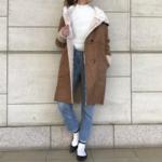 気温7度の服装|ロングコート・ムートンコート・ダウンコーデ